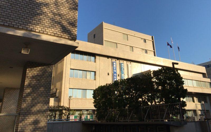 品川区役所の建物